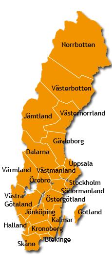 Klickabar karta över länsföreningarna