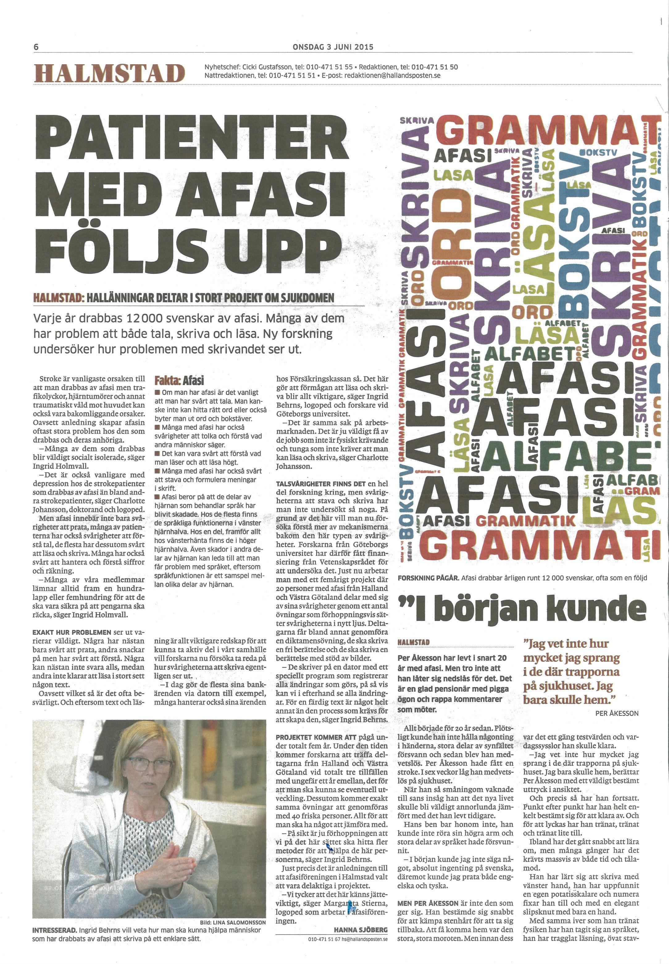 Hallandsposten 3 juni 2015 del1
